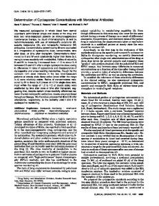 Determination of Cyclosporine Concentrations with Monoclonal ...
