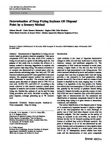Determination of Deep Frying Soybean Oil ... - Wiley Online Library