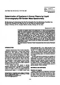 Determination of Eperisone in Human Plasma by