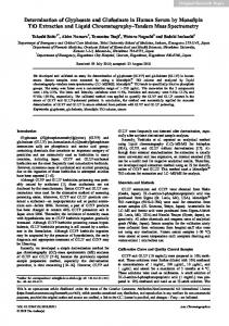 Determination of glyphosate and glufosinate in human serum by