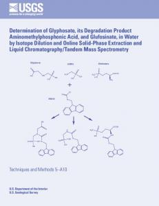 Determination of Glyphosate, its Degradation Product - USGS ...