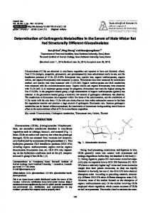Determination of Goitrogenic Metabolites in the ... - Semantic Scholar