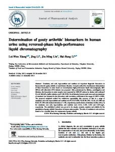 Determination of gouty arthritis' biomarkers in human urine ... - Core