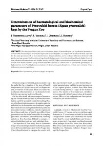 Determination of haematological and biochemical parameters of ...