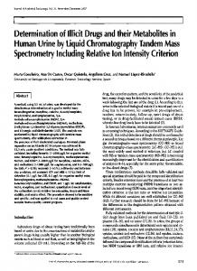 Determination of Illicit Drugs and their Metabolites in Human Urine by ...