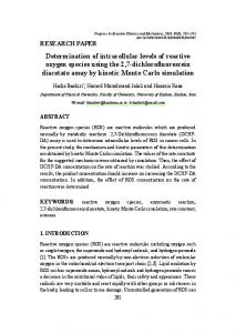Determination of intracellular levels of reactive oxygen species using