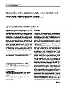 Determination of Iron Species in Samples of Iron ... - Springer Link