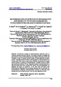 DETERMINATION OF KINETICS OF DEGRADATION AND MOBILITY