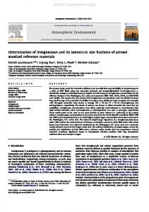 Determination of levoglucosan and its isomers in size fractions of ...