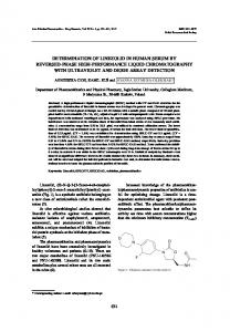 determination of linezolid in human serum by reversed-phase high ...