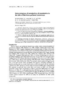 Determination of metabolites of xenobiotics in the bile of ... - CiteSeerX