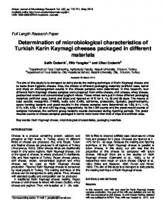 Determination of microbiological characteristics ... - Academic Journals