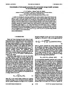 Determination of microscopic parameters for nonresonant energy ...