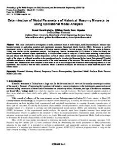 Determination of Modal Parameters of Historical ...