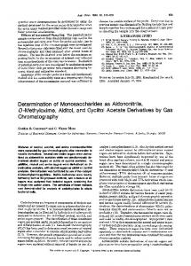 Determination of monosaccharides as aldononitrile ... - ACS Publications