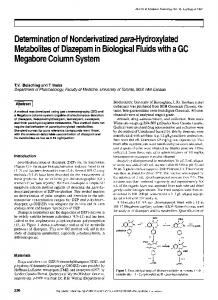 Determination of Nonderivatized para-Hydroxylated Metabolites of ...