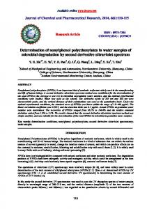 Determination of nonylphenol polyethoxylates in water samples of ...
