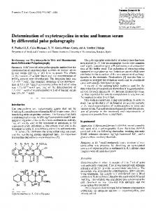 Determination of oxytetracycline in urine and human ... - Springer Link