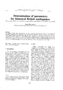 Determination of parameters - Annals of Geophysics