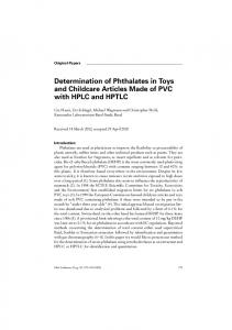 Determination of Phthalates in Toys and Childcare