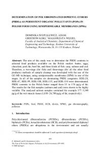 DETERMINATION OF POLYBROMINATED DIPHENYL ETHERS ...