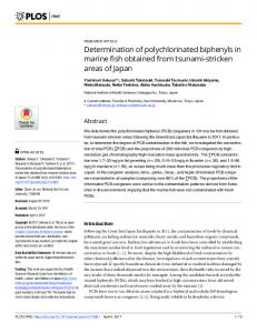 Determination of polychlorinated biphenyls in marine fish ... - PLOS