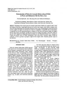 Determination of Polycyclic Aromatic Hydrocarbons (PAHs) in ... - IDOSI