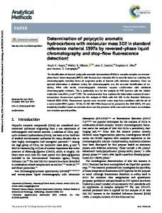 Determination of polycyclic aromatic hydrocarbons ...