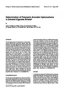 Determination of Polycyclic Aromatic Hydrocarbons In ... - Sciendo