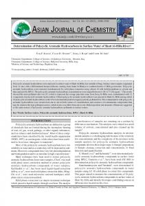 Determination of Polycyclic Aromatic Hydrocarbons in