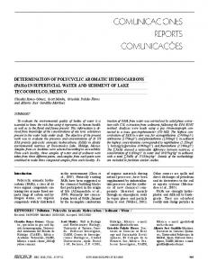 DETERMINATION OF POLYCYCLIC AROMATIC ... - Interciencia