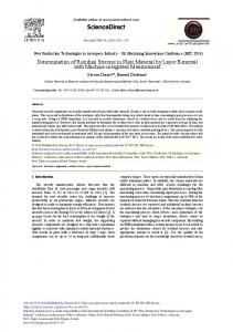 Determination of Residual Stresses in Plate ... - ScienceDirect.com