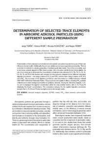 determination of selected trace elements in airborne aerosol particles