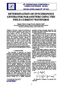 determination of synchronous generator parameters