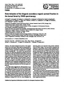 Determination of the biogenic secondary organic ... - Atmos. Chem. Phys