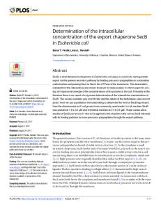 Determination of the intracellular concentration of