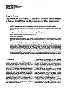 Determination of the Levels of Polycyclic Aromatic Hydrocarbons in ...