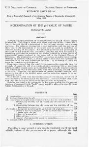 Determination of the pH value of papers - NIST Page