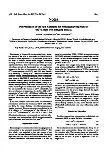 Determination of the Rate Constants for Bimolecular Reactions of O