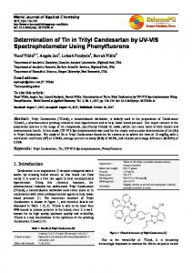 Determination of Tin in Trityl Candesartan by UV-VIS ...