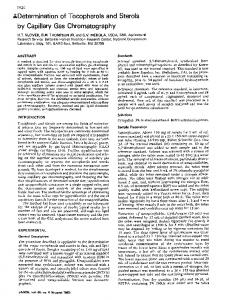 Determination of tocopherols and sterols by capillary ... - Springer Link
