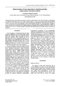 Determination of trace impurities in nickel-based alloy ... - Springer Link