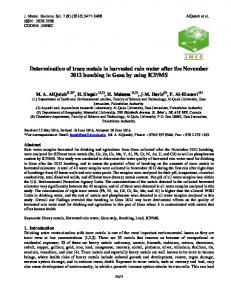 Determination of trace metals in harvested rain water after the ...