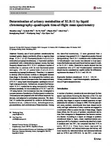 Determination of urinary metabolites of XLR-11 by ... - Springer Link