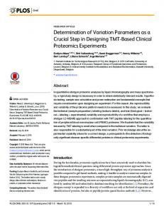 Determination of Variation Parameters as a Crucial