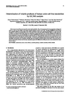 Determination of volatile products of human colon cell ... - Springer Link