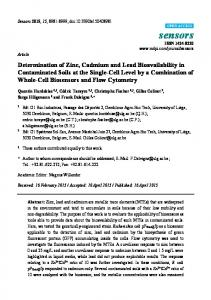 Determination of Zinc, Cadmium and Lead Bioavailability in ... - MDPI