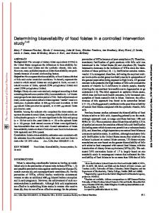Determining bioavailability of food folates in a