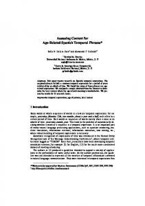 Determining Context for - Natural Language Processing Laboratory ...