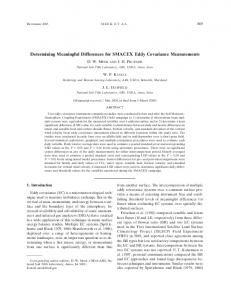 Determining Meaningful Differences for SMACEX Eddy Covariance ...